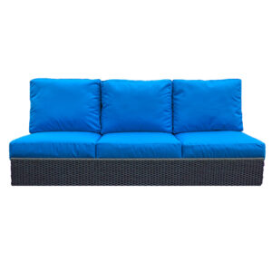 3 Seat Sofa - ORWW Woven Collection - Espresso - Blue