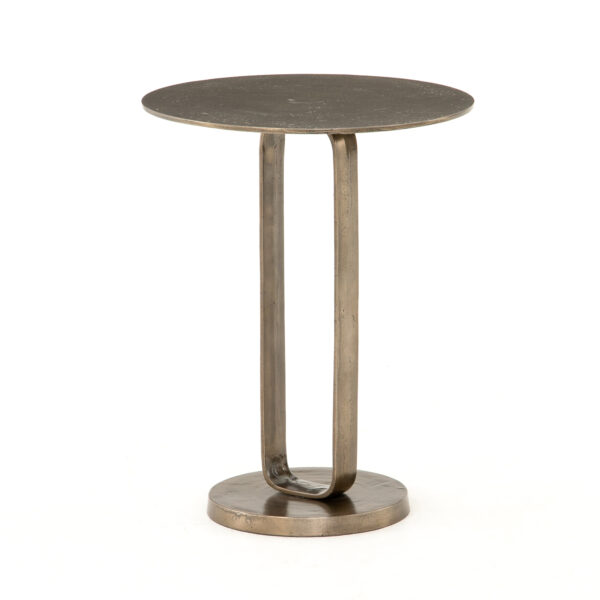 DOUGLAS END TABLE - AGED BRONZE