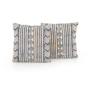 FADED BLUE DIAMOND TOSS CUSHIONS