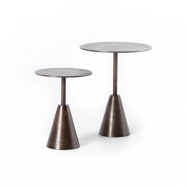FRISCO END TABLES - ANTIQUE RUST