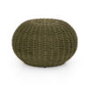 PHOENIX ACCENT STOOL - OLIVE ROPE