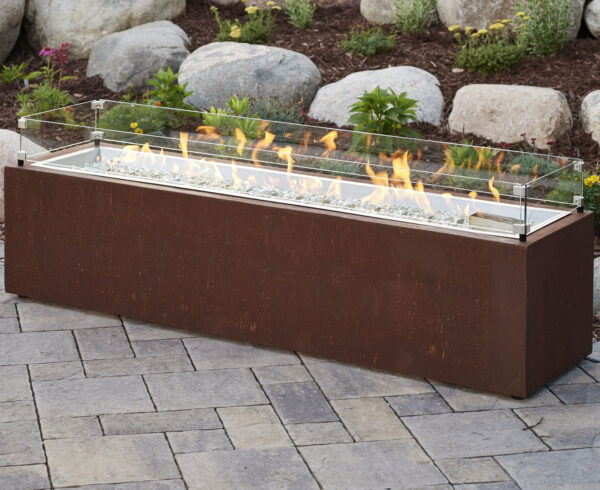 Rectangular Fire Tables - Cortlin with Wind Gurad
