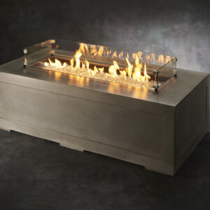 Rectangular Fire Tables - Cove Rectangular with Wind Guard