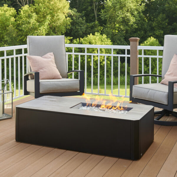 Rectangular Fire Tables - Kinney Rectangular without Wind Guard