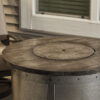 Round Fire Table - Edison with Burner Cover