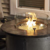Round Fire Table - Edison with Wind Guard