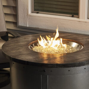 Round Fire Table - Edison without Wind Guard