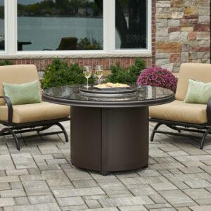 Round Fire Tables - Beacon Granite Brown Burner Cover
