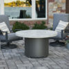 Round Fire Tables - Beacon White Onyx Burner Cover