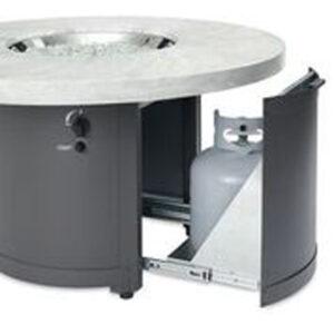 Round Fire Tables - Beacon White Onyx Slider