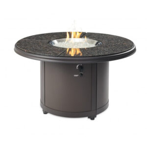 Round Fire Tables - Brown Granite Beacon Chat Height