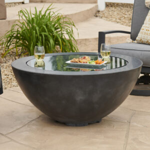 Round Fire Tables - Cove 30 with Burner Cover Black