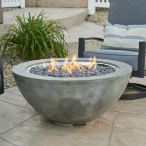 Round Fire Tables - Cove 30 without Wind Guard Grey