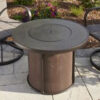 Round Fire Tables - Stone Fire with Burner Cover Round 2