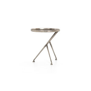 Schmidt End Table – Raw Antique Nickel