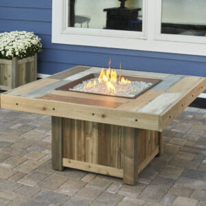 Square Fire Tables - The Vintage Collection - Without Wind Guard