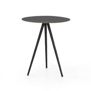 TRULA END TABLE – RUBBED BLACK