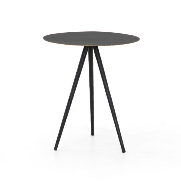 TRULA END TABLE - RUBBED BLACK