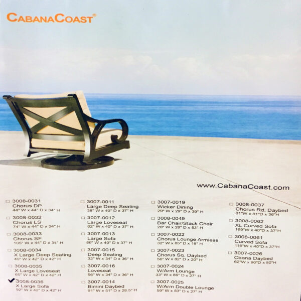 CABANA COAST - EXTRA LARGE SOFA COVER