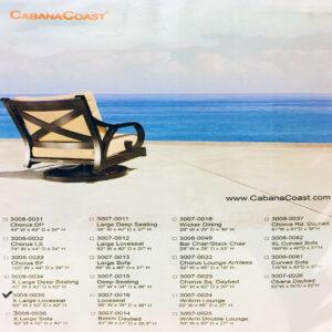 CABANA COAST - EXTRA LARGE LOVESEAT COVER
