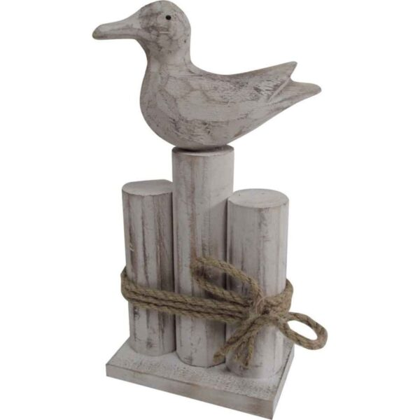 DUCK SITTING ON WOODEN POST PANAM