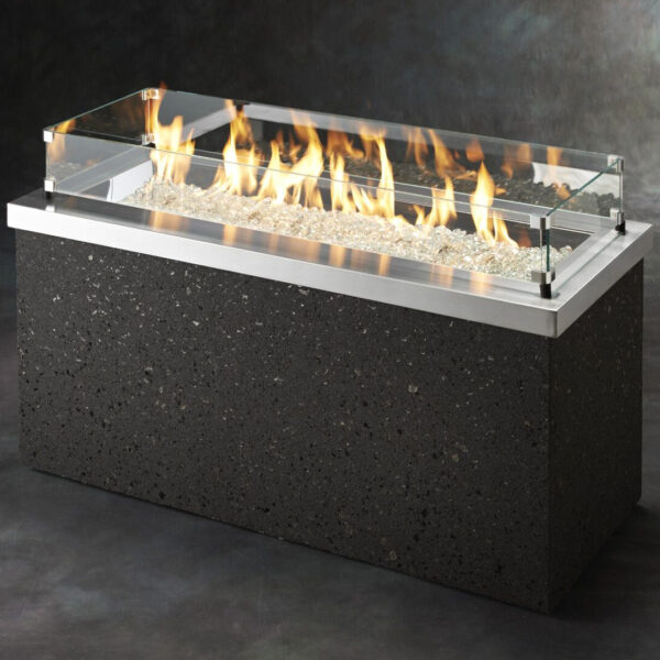 Rectangular Fire Table - Key Largo SS with Wind Guard