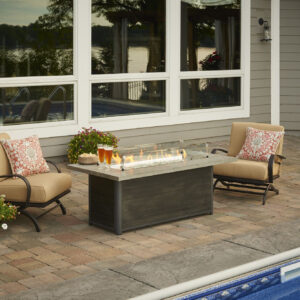 Rectangular Fire Tables - Cedar Ridge with Wind Guard