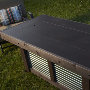 Rectangular Fire Tables - Denali Brew with Burner Cover
