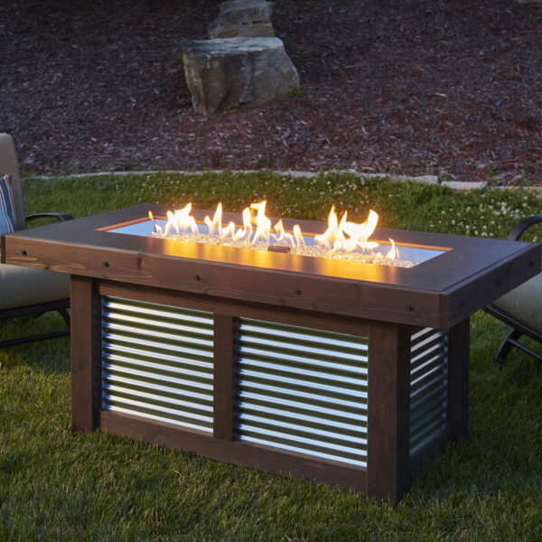Rectangular Fire Tables - Denali Brew without Wind Guard