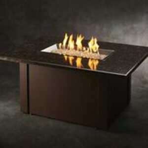 Rectangular Fire Tables - Grandstone Brown without Wind Guard