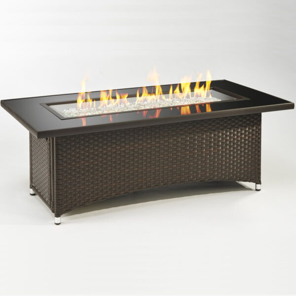 Rectangular Fire Tables - Montego Brown without Wind Guard Rectangular