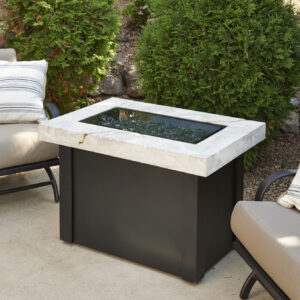 Rectangular Fire Tables - Providence Onyx with Burner Cover Rectangular