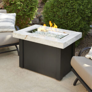 Rectangular Fire Tables - Providence Onyx withoit Wind Guard Rectangular