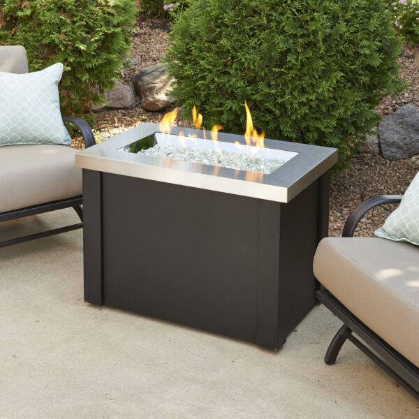 Rectangular Fire Tables - Providence SS without Wind Guard
