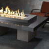 Rectangular Fire Tables - Uptown Black Rectangular