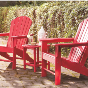 Adirondack Chairs Set of 3 – Red