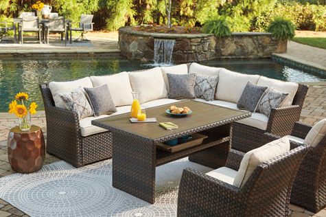 easy isle dining sectional