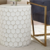 ACCENT SIDE TABLE POLLY WHITE