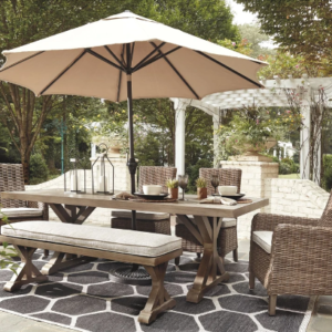 Beachcroft Dining 6 Piece Set By Ashley Outsoor