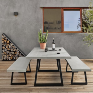 Cyrus dining table & bench