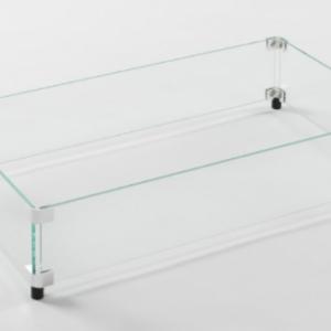 Rectangular Glass Wind Guard