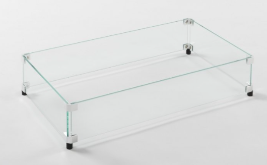 Rectangular Glass Wind Guard